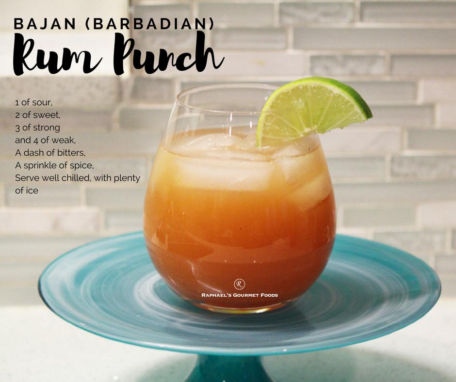 Bajan Rum Punch – Raphael's Gourmet Foods